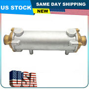 New Marine Heat Exchanger 13 1/2andrdquo Long By 3 1/2andrdquo Diameter Free Shipping Us Stock