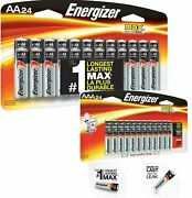 Energizer Alkaline Aa And Aaa Max Battery 24+24-pack New Exp.12/2029