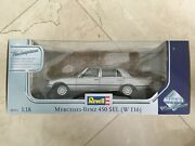 Mercedes W116 450 Sel 6.9 Diecast Model By Revell 118 Silver/black
