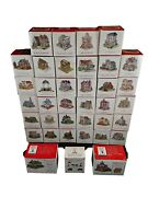 Liberty Falls Americana Collection Vintage Lot Of 36 Buildings And 1 Accessory