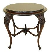 F31671ec Rj Horner Unsigned Round Victorian Mahogany Center Table