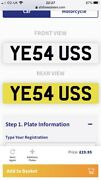 Ye5 4 Uss Private Number Plate Ye5 4 Uss Great For Sign Written Vechicle