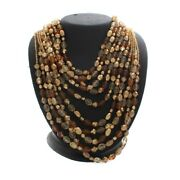 Hsn Suzanne Somers Multi Beaded 10 Strand 20 Necklace