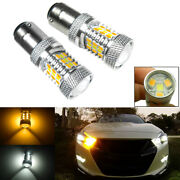 1157 2357 Ba15d Dual-color Switchback Led Turn Signal Light Parking Lamps Bulbs