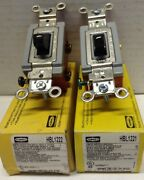 Hubbell Series 1200 Hbl1222 1 And Hbl1221 1 Toggle Switches 20a