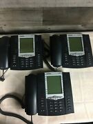 Lot Of 3 Aastra 6757i Voip Phone Business Telephone With Stands And Handsets
