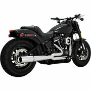 Vance And Hines Pro Pipe 2-into-1 Exhaust Chrome For Harley-davidson Softail M8