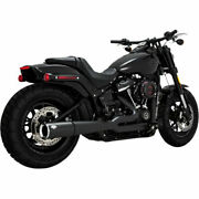 Vance And Hines Pro Pipe 2-into-1 Exhaust Black For Harley-davidson Softail M8