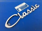 1970s Classic 170 190 195 200 211 240 Boat Chrome Side Emblem Nameplate And Id Tag