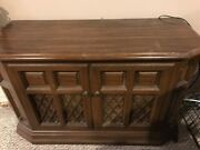 Vintage Stereo - Pickup Only - Radio Turntable Eight Track And Cassette Console
