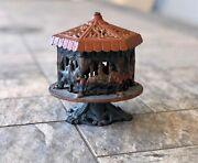Vintage Cast Iron Spinning Carousel Merry-go-round 1875 Coin Bank