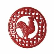 Grant Howard Cast Iron Red Rooster Trivet