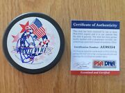 Al Michaels Signed Miracle On Ice Puck Psa Olympic Xiii Winter Games Lake Placid