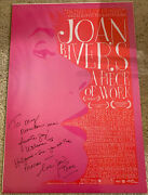 Joan Rivers Signed A Piece Of Work Movie Poster - Fashion Police Comedy 1 Gay