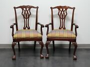 Councill Mahogany Chippendale Ball In Claw Dining Captain's Armchairs - Pair