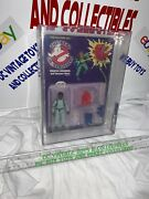 Vintage The Real Ghostbusters Winston 1st Series White Text 1986 Kenner Afa 75