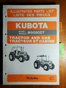 Kubota M9580dt Tractor And Cab Illustrated Parts List Manual 97898-21420 3/92