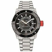 Edox 80099 3rm Nin Menand039s Stainless Steel Black Automatic Watch