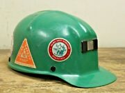 Vintage Mining Safety Green Msa Comfo Cap Miners Hard Hat