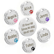 20/50/100pcs Cute Personalized Pet Id Tags Engravable Bling Dog Cat Name Discs