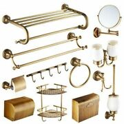 Wall Mounted Antique Paper Towel Rack Copper Metal Brushed Bathroom Accessories