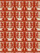 Clarence House Ethnic Chic Totem South Seas Linen Fabric 10 Yards Cayenne