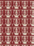 Clarence House Ethnic Chic Totem South Seas Linen Fabric 10 Yards Carmine Red