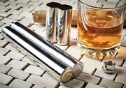 Engraved Cigar Case Tube Holder Hip Flask Pocket With Gold Personalised Gifts
