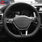 Sewing Genuine Leather Steering Wheel Cover For Vw Golf Mk7 Passat B8 Polo Jetta