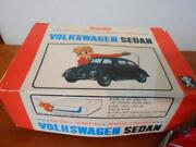 Volkswagen Sedan Tin Toy 1950s Bandai With Boxandremote Controller Rare From Japan
