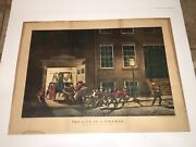 Original N. Currier And Ives Life Of A Fireman Night Alarm Old Best 50 Large Folio