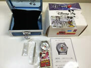 Disney Mickey Mouse Ladies Watch Woman World Limited 85th Silver Stainless Japan