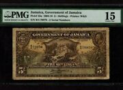 Jamaicap-32a,5 Shillings,1918 King George V Pmg Ch. F 15