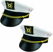 Funny Party Hats Yacht Captain Hat - 6 Pack - Sailor Hats - Navy Marine Hats -