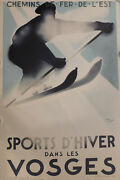 Theodoro And039sports Dand039hiver Dans Les Vosgesand039 Limited Lithograph Print Of 250