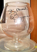 Stan Musial And Biggies Brandy Snifter And Rock Glass St Louis Cardinals Hof
