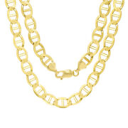 10k Yellow Gold Solid Mens 9mm Anchor Mariner Link Chain Necklace 28 28in
