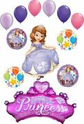 Sofia The First Party Supplies Princess Crown With Gems Birthday Balloon Bouq...