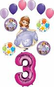 Sofia The First Party Supplies 3rd Birthday Balloon Bouquet Decorations