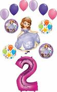 Sofia The First Party Supplies 2nd Birthday Balloon Bouquet Decorations