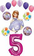 Sofia The First Party Supplies 5th Birthday Balloon Bouquet Decorations