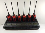 Motorola Ht1250 Uhf 450-512mhz Two Way Radio Aah25sdf9aa5an Red W/ Bank Charger