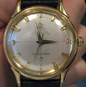 Omega 18k Gold Constellation Automatic Original Pie Pan Dial Circa 1950and039s