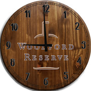 Large Wall Clock Woodford Reserve Bourbon Whiskey Bar Sign