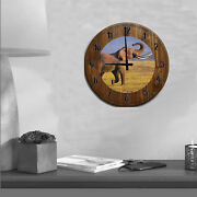 Large Wall Clock Majestic African Elephant Safari Endangered Trunk And Tusks Up