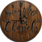 Large Wall Clock Going To Theapel Bells Wedding Marriageurch Couple Love
