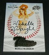 2013 Benchwarmer Michelle Mclaughlin National 7th Inning Stretch Auto/7 Playboy