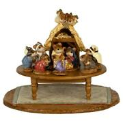 Wee Forest Folk Chris-mouse Pageant In Miniature, Wff A-57, Tiny Nativity Set