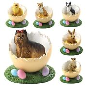 Collectible Spring Home Decor Easter Egg Figurine 228 Dog Breeds To Choose