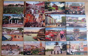 Lot Of 32 Vintage Picture Post Cards Tokyo Events Monuments Japan Hand Colored